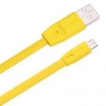 кабель / переходник Remax Full speed RC-001m, 1 м (USB - microUSB), жёлтый