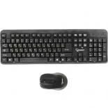 комплект Gembird KBS-7002, беспроводные клавиатура и мышь, чёрные