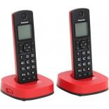 радиотелефон Panasonic KX-TGC312RUR красный и чёрный