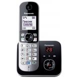 радиотелефон DECT Panasonic KX-TG6821RUB Черный/Серебристый