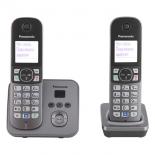 радиотелефон DECT Panasonic KX-TG6822RUM Стальной
