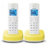 радиотелефон DECT Panasonic KX-TGС312RUR Белый/Жёлтый