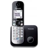 радиотелефон DECT Panasonic KX-TG6811RUB Чёрный/Серебристый