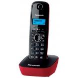 радиотелефон DECT Panasonic KX-TG1611RUR Красный/Черный