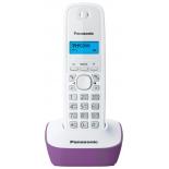 радиотелефон DECT Panasonic KX-TG1611RUF Фиолетовый/Белый