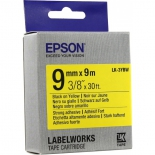 лента для печати наклеек Epson LK-3YBW, желтая