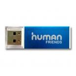 устройство для чтения карт памяти CBR Human Friends Glam (USB 2.0, SD/microSD/MMC/MS и др.), голубой