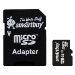 карта памяти SmartBuy microSDXC Class 10 128GB + SD-adapter