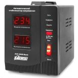 Стабилизатор напряжения PowerMan AVS-1000D (1000 VA / электромеханический / 2 розетки), чёрный