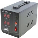 Стабилизатор напряжения PowerMan AVS-500D (500 VA / электромеханический / 2 розетки), чёрный