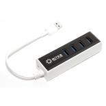 USB-концентратор 5BITES HB34-306BK (4 порта USB 3.0, пассивный), бело-чёрный