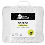 одеяло Sova & Javoronok Эвкалипт (140x205 см) белое