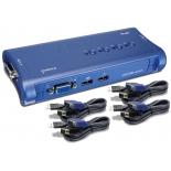 KVM-переключатель TRENDnet 4-port USB KVM Switch TK-407K