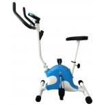 велотренажер DFC VT-8013, бело-голубой