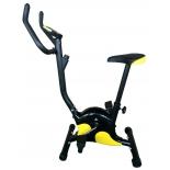 велотренажер DFC VT-8012, черно-желтый