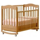 детская кроватка Гандылян Ванечка Махагон (качалка)
