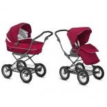 коляска Inglesina Sofia Duo Slate (2 в 1, шасси Ergobike), вишневая