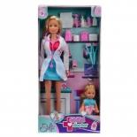 набор игровой для игры на улице Simba Кукла Штеффи-детский доктор и кукла  Еви