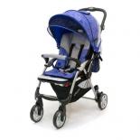 коляска Jetem Tourneo, синий цветок/светло-серая