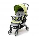 коляска Jetem Tourneo, зеленый цветок/светло-серая