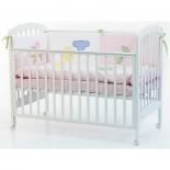 детская кроватка Fiorellino Dalmatina, белая