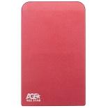 корпус для жесткого диска AgeStar 3UB2O1 (2.5'', microUSB 3.0), красный