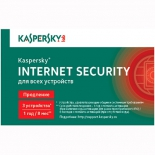 программа-антивирус Kaspersky Internet Security Multi-Device Russian Ed. 3-Device, продление лицензии на 1 год