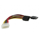кабель (шнур) VCOM Molex(M) — 2 x Power SATA(F) (VPW7572), 15 см