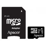 карта памяти Apacer microSDHC Card Class 10 UHS-I U1 16GB + SD-adapter
