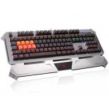 клавиатура A4Tech B740A USB, серебристо-чёрная