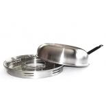 сковорода Чудо Гриль-газ D-504 (нержавеющая сталь)