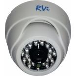 Камера видеонаблюдения RVi-E125W (купольная), Белая