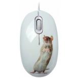 мышка CBR Capture,  1200 dpi, рисунок, USB + коврик