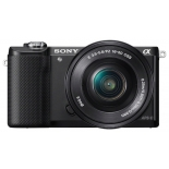 цифровой фотоаппарат Sony Alpha A5000 Double Kit (SEL-1650 + SEL-55210), черный