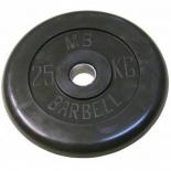 диск для штанги MB Barbell (51 мм 25 кг), Черный