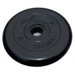 диск для штанги MB Barbell Atlet  (51 мм, 15 кг), Черный