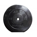 диск для штанги MB Barbell (26 мм 15 кг), Черный