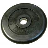 диск для штанги MB Barbell MB-PltB26-20 черный