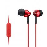 гарнитура для телефона Sony MDR-EX110AP/R, красные