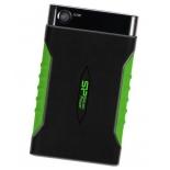 жесткий диск Silicon Power Armor A15 1TB (SP010TBPHDA15S3K, внешний), чёрно-зеленый