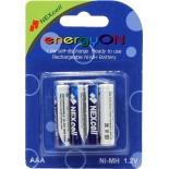 батарейка Nexcell EnergyON, аккумуляторы (1.2 В, 800 мАч Ni-MH AAA, с пониженным саморазрядом, 4 шт.)