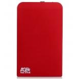 корпус для жесткого диска AgeStar SUB2O1 (2.5'', miniUSB 2.0), красный