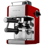 кофеварка Polaris PCM 4002A,  красная/серебристая