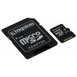 Карта памяти MicroSDXC Kingston SDC10G2/64GB, купить за 1 805 руб.