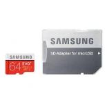 карта памяти Samsung EVO PLUS MicroSDXC 64Gb (Class10, U1, R/W 80/20 MB/s) с адаптером