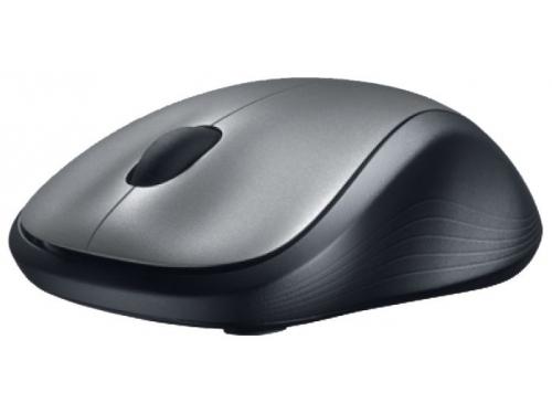 Мышка Logitech Wireless Mouse M310, серебристо-черная, вид 2