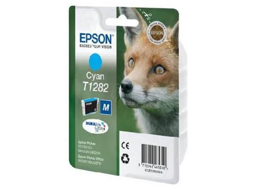 Картридж для принтера Epson T1282 Лиса Cyan, вид 1