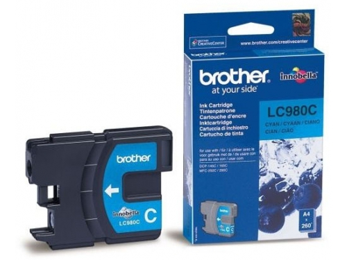 Картридж Brother LC980C Cyan, вид 1