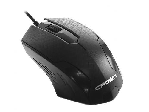 Мышка Crown CMM-100 черная, вид 1