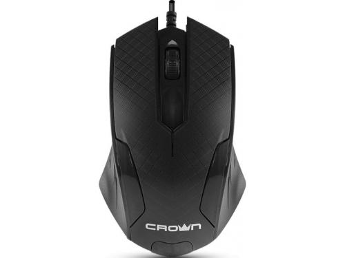 Мышка Crown CMM-100 черная, вид 2